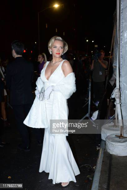 Camille Kostek attends Heidi Klum's 20th Annual Halloween Party at The Cathedral on October 31 2019 in New York City