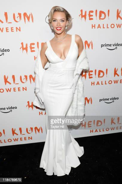 Camille Kostek attends Heidi Klum's Annual Hallowe'en Party at Cathedrale on October 31 2019 in New York City