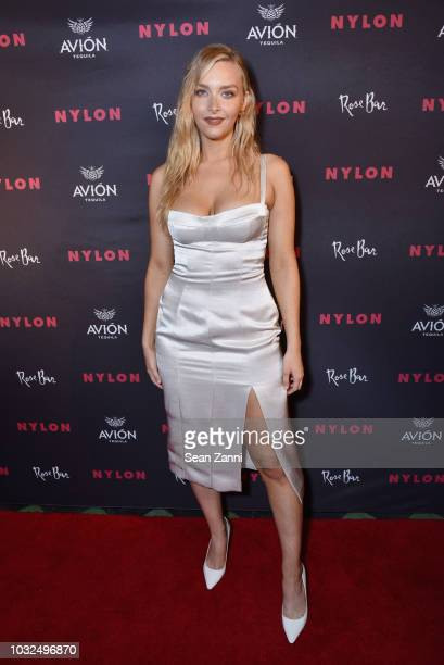 Camille Kostek attends NYLON's Annual Rebel Fashion Party at Gramercy Park Hotel Rose Bar at Gramercy Park Hotel on September 12 2018 in New York City