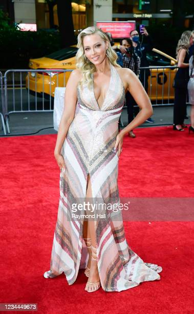 """Camille Kostek attends the """"Free Guy"""" New York Premiere at AMC Lincoln Square Theater on August 3, 2021 in New York City."""