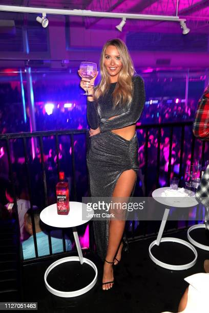 Camille Kostek attends The Maxim Big Game Experience at The Fairmont on February 02 2019 in Atlanta Georgia