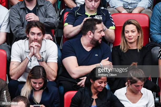 Camille Lacourt and Anne laure Bonnet during the Champions League match between Paris Saint Germain and Nantes at Stade Pierre de Coubertin on April...