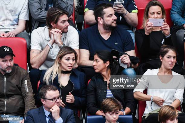 Camille Lacourt Anne Laure Bonnet Laure Boulleau Shirley Cruz and Veroniqua Boquete of PSG during the Champions League match between Paris Saint...
