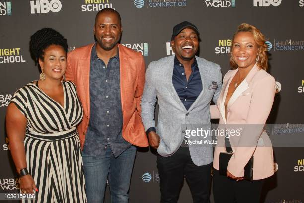 Camille Lee Malcolm Lee director Will Packer and wife Heather Hayslett attend the premiere of Night School at the 2018 UrbanWorld Film Festival at...