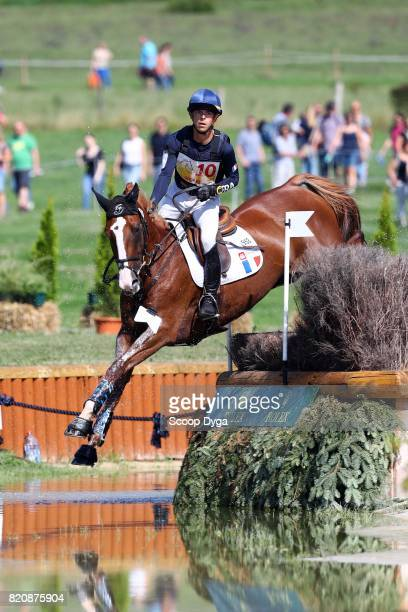 Camille LEJEUNE of France riding TAHINA DES ISLES during Cross Country Jumping competition of the World Equestrian Festival on July 22 2017 in Aachen...