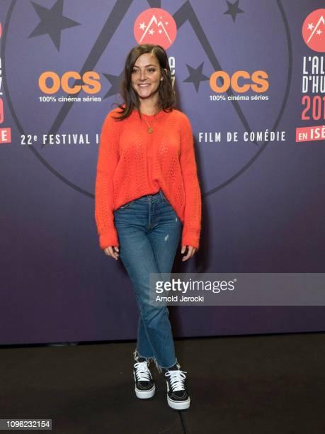 Camille Lellouche attends 'Nicky Larson et le parfum de Cupidon' premiere during the 22nd L'Alpe D'Huez International Comedy Film Festival on January...