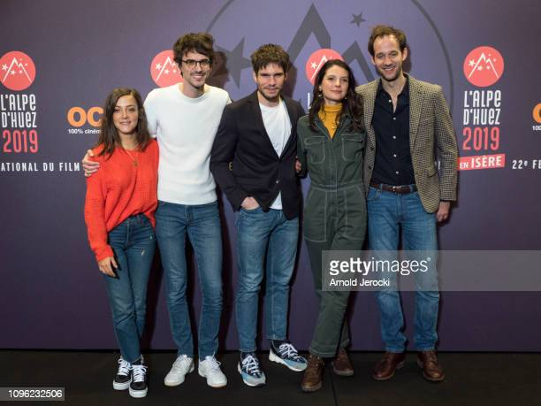 Camille Lellouche Francois Civil Hugo Gélin Josephine Japy and Benjamin Lavernhe attends 'Nicky Larson et le parfum de Cupidon' premiere during the...