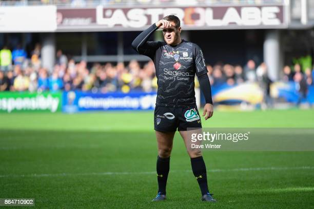 Camille Lopez of Clermont during the European Rugby Champions Cup match between Clermont Auvergne and Northampton Saints on October 21 2017 in...