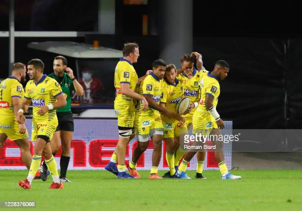 Camille LOPEZ of Clermont during the Top 14 match between ASM Clermont and Stade Toulousain at Parc des Sport Marcel-Michelin on September 6, 2020 in...