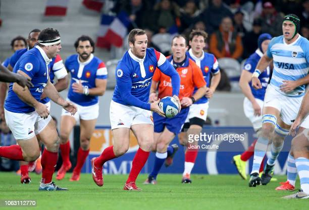 Camille Lopez of France during the international friendly rugby match between France and Argentina at Stade Pierre Mauroy on November 17 2018 in...