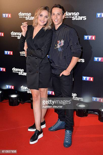 Camille Lou and Gregoire Lyonnet pose during the 'Danses With The Stars' photocall on September 28 2016 in Paris France