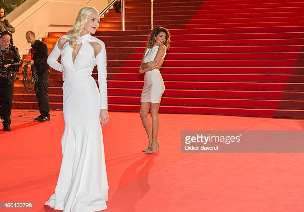 Camille Lou and Tal attend the 16th NRJ Music Awards at Palais des Festivals on December 13 2014 in Cannes France