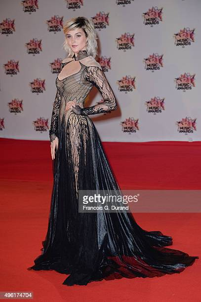 Camille Lou attends the 17th NRJ Music Awards at Palais des Festivals on November 7 2015 in Cannes France