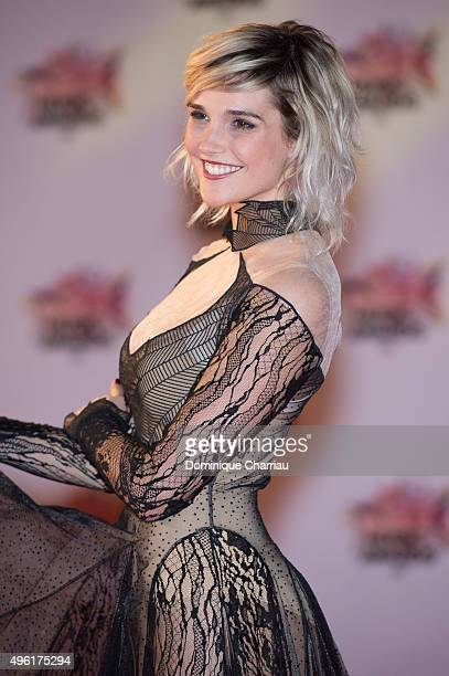 Camille Lou attends the 17th NRJ Music Awards at Palais Des Festivals In Cannes on November 7 2015 in Cannes France