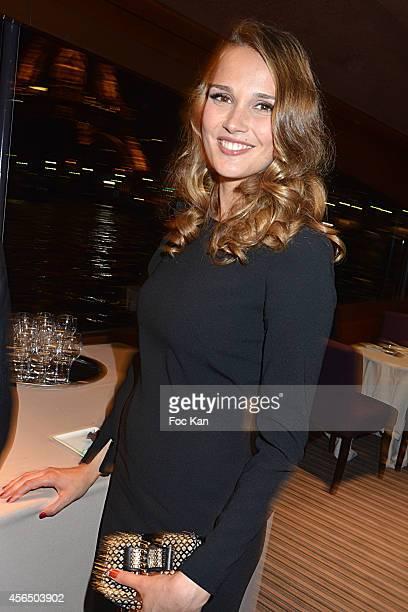 Camille Lou attends the 'For Ever Gentlemen 2' CD Launch at Le Paris boat on October 1 2014 in Paris France