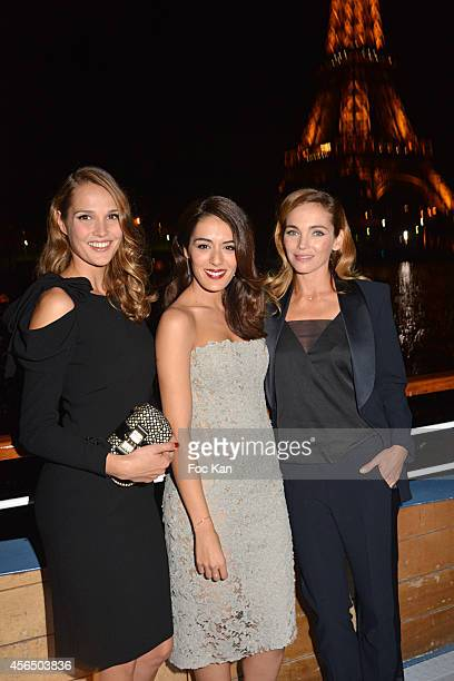 Camille Lou Sofia Essaidi and Claire Keim attend the 'For Ever Gentlemen 2' CD Launch at Le Paris boat on October 1 2014 in Paris France