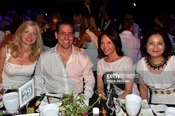 Camille Massey David Gerstenhaber Sophia Brenner and Lulu Zhang attend Boom The Cosmic LongHouse Benefit at LongHouse Reserve on July 22 2017 in East...
