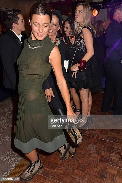 Camille Miceli and Marpessa Hennink attends the Kenzo Takada Celebrates 50 Years of Life in Paris at Le Pre Catalan on September 16 2015 in Boulogne...
