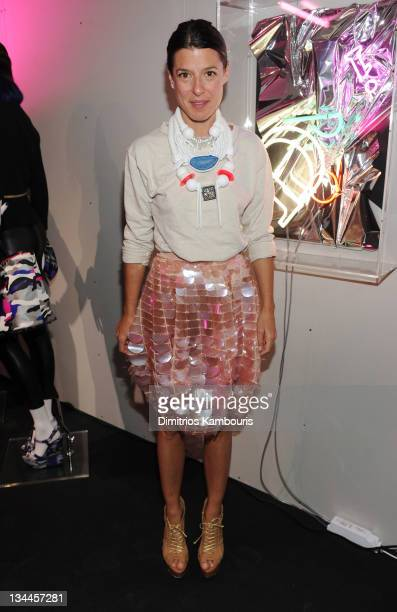 Camille Miceli attends the Playing around with the world of Dior accessories event on December 1 2011 in Miami Florida