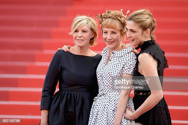 Camille Moreau actress Julie Depardieu and actress Julie Gayet attend The Unknown Girl Premiere during the 69th annual Cannes Film Festival at the...