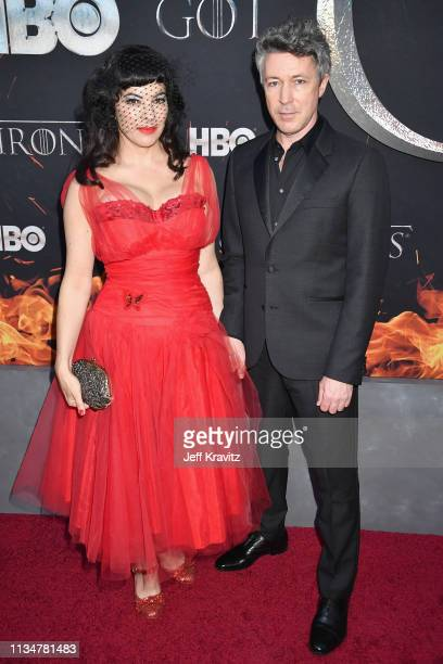 Camille O'Sullivan and Aidan Gillen attend the Game Of Thrones Season 8 NY Premiere on April 3 2019 in New York City