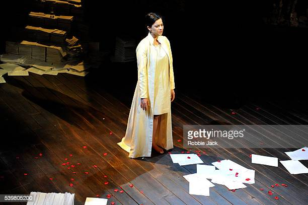Camille O'Sullivan in the Royal Shakespeare Company's production of William Shakespears The Rape of Lucrece directed by Elizabeth Freestone at the...