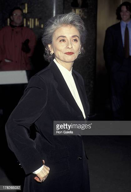 Camille Paglia attends New York Film Critics Circle Awards Dinner on January 22, 1995 at the Rainbow Room in New York City.