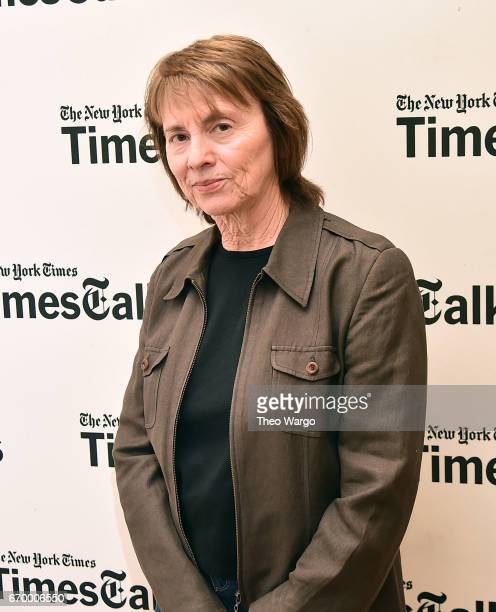 Camille Paglia attends TimesTalks Presents Camille Paglia and Andy Cohen at New York Society for Ethical Culture on April 18, 2017 in New York City.