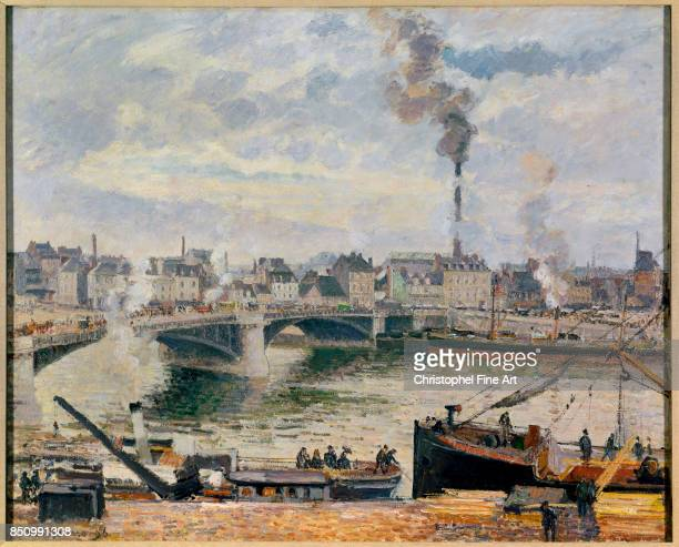 Camille Pissarro The Great Bridge Rouen 1896 Oil on canvas 074 x 092 m Pittsburgh Carnegie Museum of Art
