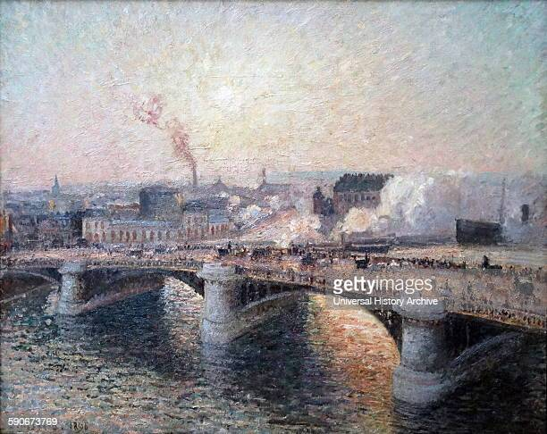 Camille Pissarro The Pont Boieldieu at Rouen Sunset 1896 Oil on canvas Pissarro visited Rouen in the spring and autumn of 1896 to complete a series...
