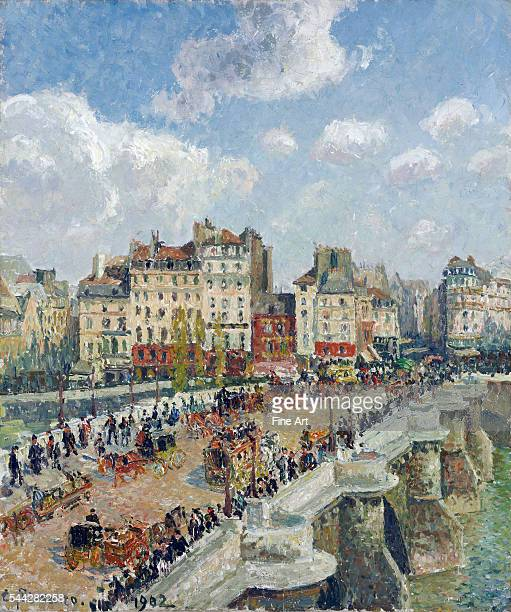 Camille Pissarro The PontNeuf Paris oil on canvas 55 x 465 cm Museum of Fine Arts Budapest Hungary