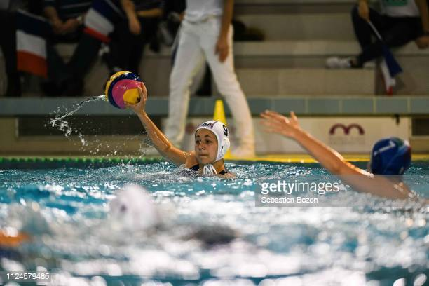 Camille Radosavljevic of France during the Women's International Match Water Polo match between France and Italy on February 12 2019 in Mulhouse...