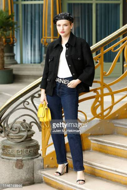 Camille Razat attends the Chanel Cruise 2020 Collection : Photocall In Le Grand Palais on May 03, 2019 in Paris, France.