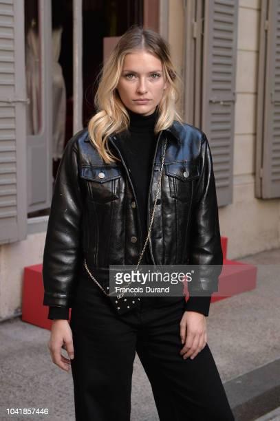 Camille Razat attends the Roger Vivier Presentation Spring/Summer 2019 during Paris Fashion Week on September 27 2018 in Paris France