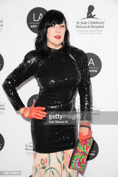 Camille Rose Garcia attends the LA Art Show 2019 at Los Angeles Convention Center on January 23 2019 in Los Angeles California