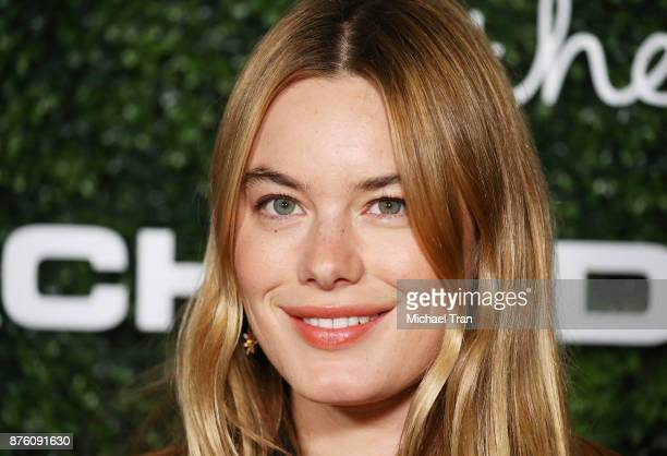 Camille Rowe arrives to the 2017 GO Campaign Gala held at NeueHouse Los Angeles on November 18 2017 in Hollywood California