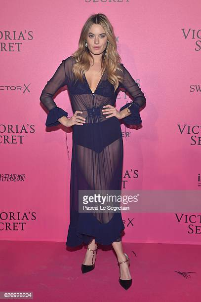 Camille Rowe attends the 2016 Victoria's Secret Fashion Show after party on November 30 2016 in Paris France