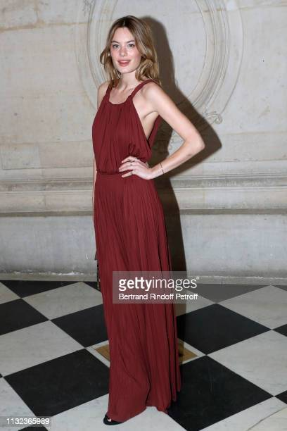 Camille Rowe attends the Christian Dior show as part of the Paris Fashion Week Womenswear Fall/Winter 2019/2020 on February 26 2019 in Paris France