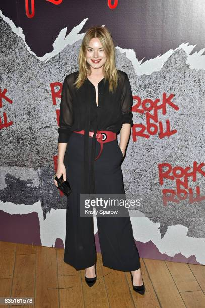Camille Rowe attends the Rock'N Roll Premiere at Cinema Pathe Beaugrenelle on February 13 2017 in Paris France