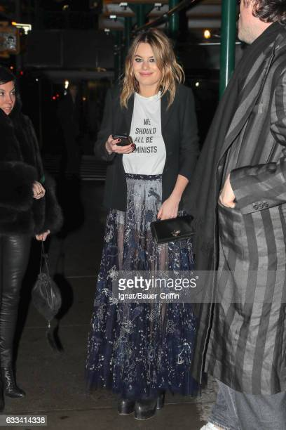 Camille Rowe is seen on January 31, 2017 in New York City.