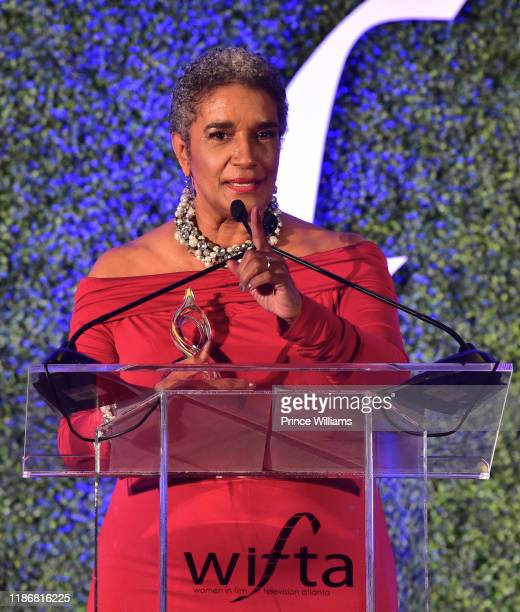 Camille Russell Love speaks at the 2019 WIFTA Gala at Four Seasons Hotel on November 9 2019 in Atlanta Georgia