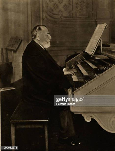 Camille SaintSaëns at the Organ 1913 Private Collection Artist Anonymous