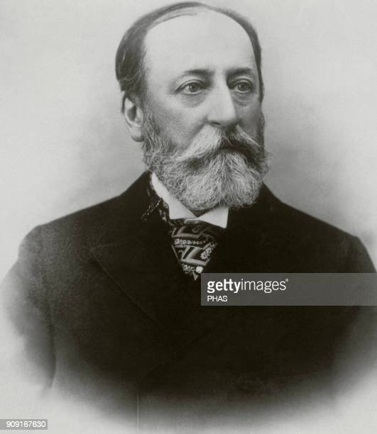 Camille SaintSaëns French composer and writter Engraving La Ilustracion Española y Americana