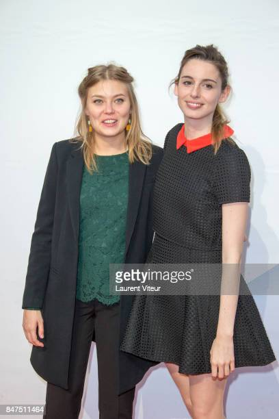 Camille Sansterre and Berangere McNeese attend Le Viol Photocall during the 19th Festival of TV Fiction at La Rochelle on September 15 2017 in La...