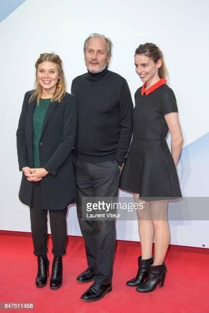 Camille Sansterre Hyppolite Girardot and Berangere McNeese attend 'Le Viol' Photocall during the 19th Festival of TV Fiction at La Rochelle on...