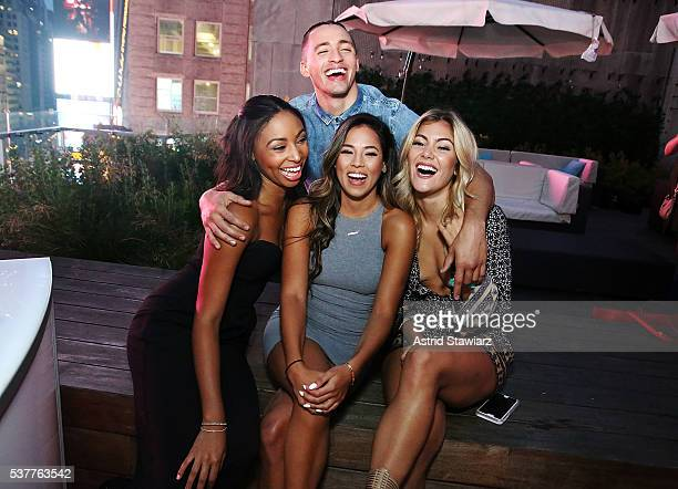 Camille Satterwhite Giovanni Rivera Mikala Thomas and Tori Deal attend MTV's Are You The One Season Four Premiere on June 2 2016 in New York City