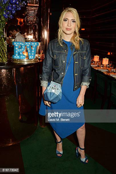 Camille Seydoux attends a dinner hosted by Roger Vivier to celebrate the Prismick Denim collection by Camille Seydoux at Casa Cruz on March 17 2016...