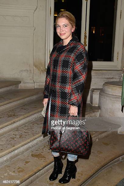 Camille Seydoux attends the Valentino show as part of Paris Fashion Week Haute Couture Spring/Summer 2015 on January 28 2015 in Paris France