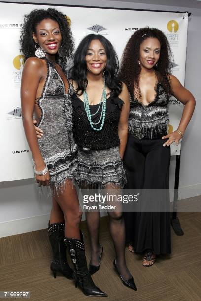 Camille Sledge Joni Sledge and Amber Sledge of the music group Sister Sledge attend the We Are Family CD DVD release party hosted by Rodney Jerkins...