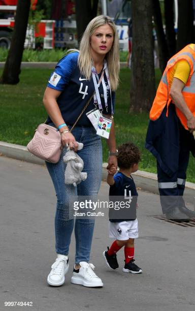 Camille Tytgat wife of Raphael Varane of France arrives to attend the 2018 FIFA World Cup Russia Final match between France and Croatia at Luzhniki...